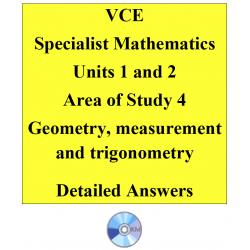 2016 VCE Specialist Mathematics Units 1 and 2 - AOS4 - Geometry, measurement and trigonometry