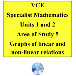 2016 VCE Specialist Mathematics Units 1 and 2 - AOS5 - Graphs of linear and non-linear relations