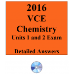 2016 VCE Chemistry Exam Units 1 and 2