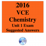 2016 VCE Chemistry Exam Unit 1