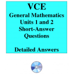 2016 VCE General Mathematics Units 1 and 2 - Short Answer