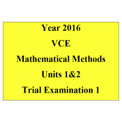2016 VCE Mathematical Methods Units 1 and 2 - Exam 1 (technology free)