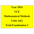 VCE Mathematical Methods Units 1 and 2 - Exam 2 (VCAA approved technology)