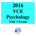 2016 VCE Psychology Exam Unit 1