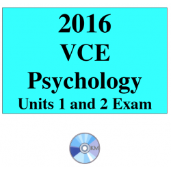 2016 VCE Psychology Exam Units 1 and 2