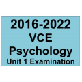 VCE Psychology Exam Unit 1