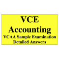 2013-2018 VCE Accounting - Answers to VCAA Sample Exam