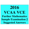 *VCE Further Maths Sample Exam 2 - Detailed Answers