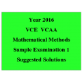 *VCE Maths Methods Sample Exam 1 - Detailed Answers