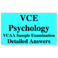 VCE Psychology - Answers to VCAA Sample Exam