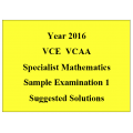 VCE Specialist Maths Sample Exam 1 - Detailed Answers