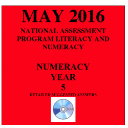 Year 5 May 2016 Numeracy - Answers