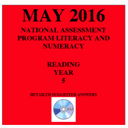 Year 5 May 2016 Reading - Answers