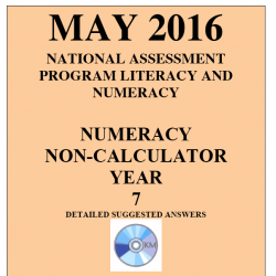 Year 7 May 2016 Numeracy Non-Calculator - Answers