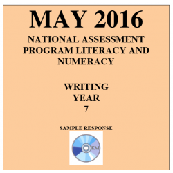 Year 7 May 2016 Writing - Response