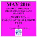 Year 9 May 2016 Numeracy Calculator - Answers