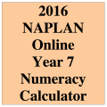 2016 Y7 Numeracy Calculator Allowed - Online