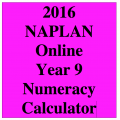 2016 Y9 Numeracy Calculator Allowed - Online