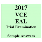 2017 Kilbaha VCE EAL Units 3 and 4 Trial Exam