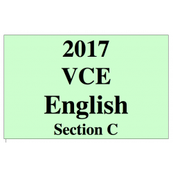 2017 Kilbaha VCE English argument and persuasive language