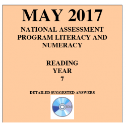 ACARA 2017 NAPLAN Reading - Year 7 - Answers