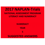 2017 Y5 Numeracy - Hard Copy