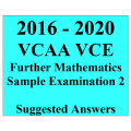 2016-2020 VCAA VCE Further Maths Sample Exam 2 - Detailed Answers