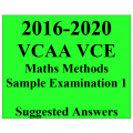2016-2020 VCAA VCE Maths Methods Sample Exam 1 - Detailed Answers