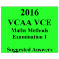 2016- VCAA VCE Maths Methods End of Year Exam 1 - Detailed Answers