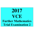 2017 Kilbaha VCE Further Mathematics Units 3 and 4 Trial Exam 2 (VCAA approved technology)