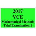 2017 Kilbaha VCE Maths Methods Units 3 and 4 Trial Exam 1 (technology free )