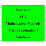 #2017 Kilbaha VCE Maths Methods Units 3 and 4 Trial Exam 1 (technology free )