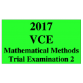 #2017 Kilbaha VCE Maths Methods Units 3 and 4 Trial Exam 2 (VCAA approved technology)