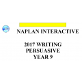 2017 Y9 Writing - Interactive
