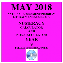 ACARA 2018 NAPLAN Numeracy - Year 9 - Answers