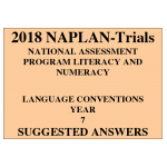 2018 Kilbaha NAPLAN Trial Test Year 7 - Language - Hard Copy