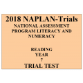 2018 Kilbaha NAPLAN Trial Test Year 7 - Reading - Hard Copy