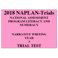 2018 Kilbaha NAPLAN Trial Test Year 3 - Writing - Hard Copy