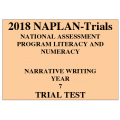 2018 Kilbaha NAPLAN Trial Test Year 7 - Writing - Hard Copy