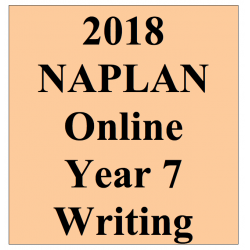 2018 Kilbaha Interactive NAPLAN Trial Test Writing Year 7