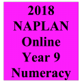 2018 Kilbaha Interactive NAPLAN Trial Test Numeracy Year 9