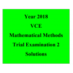 2018 Kilbaha VCE Maths Methods Trial Examination 2