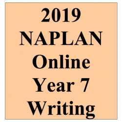 2019 Kilbaha Interactive NAPLAN Trial Test Writing Year 7