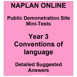 NAPLAN Online MiniTest Answers Language Year 3