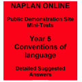 NAPLAN Online MiniTest Answers Language Year 5