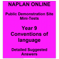 NAPLAN Online MiniTest Answers Language Year 9