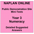 NAPLAN Online MiniTest Answers Numeracy Year 3