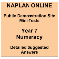 NAPLAN Online MiniTest Answers Numeracy Year 7