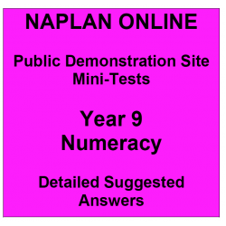 NAPLAN Online MiniTest Answers Numeracy Year 9