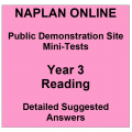 NAPLAN Online MiniTest Answers Reading Year 3